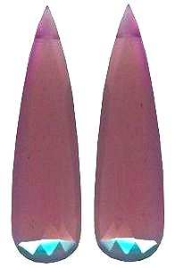 Pink Chalcedony long pair